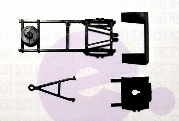 3 Stück Hängerfahrgestell für Anhänger IFA E5 schwarz