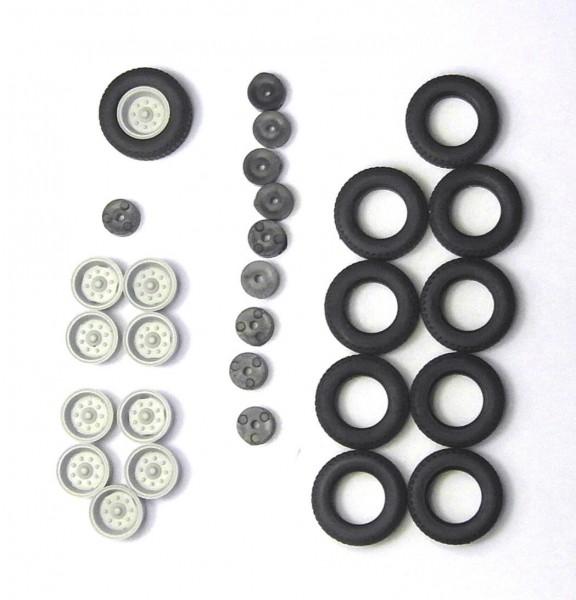 2 Satz Hochdruckbereifung für Anhänger HW80, E5 und andere. Felgen hellgrau