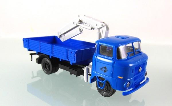 LKW W50L / L-LDK 1250 Ladekran in Messelackierung blau