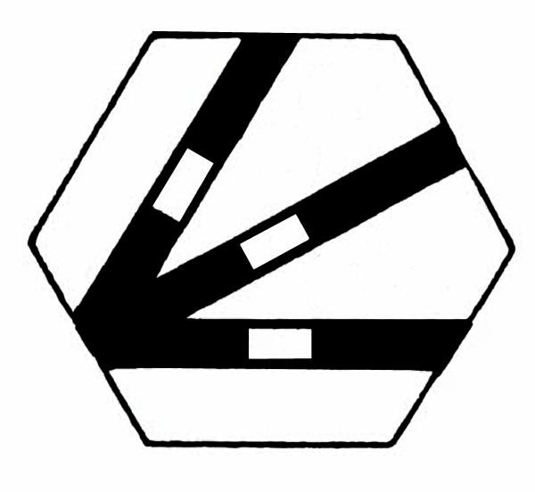 S957D Gleissymbol Dreiwegweiche ohne Taster