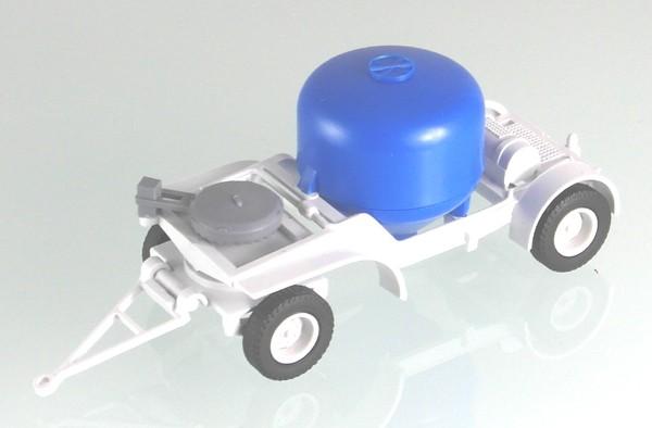 Zementsilo Anhänger 7t, Lichtgrau/ Blau