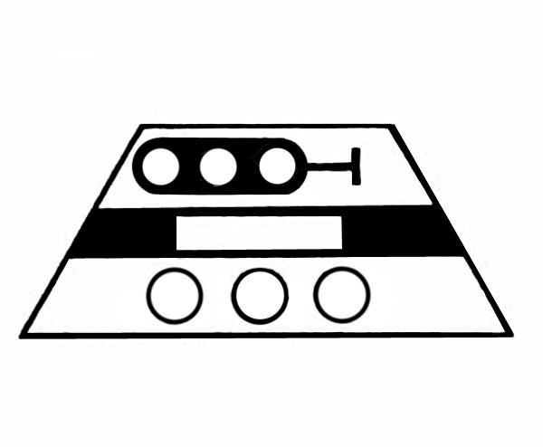 S617A Signalsymbol Hauptsignal 3-begriffig ( Hp0 - Hp1-Hp2 ) für 3 Taster