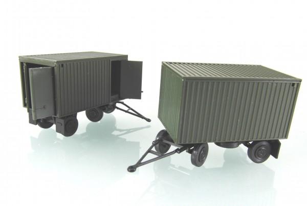 """2 Stück Anhänger E5 mit Kofferaufbau """"NVA"""""""
