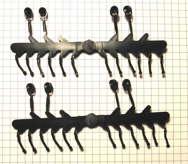 Peilstangen und Suchscheinwerfer für alte DDR EsPeWe S4000 und G5 Modelle
