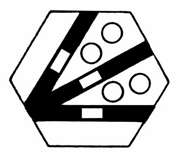 S957A Gleissymbol Dreiwegweiche 4 Taster