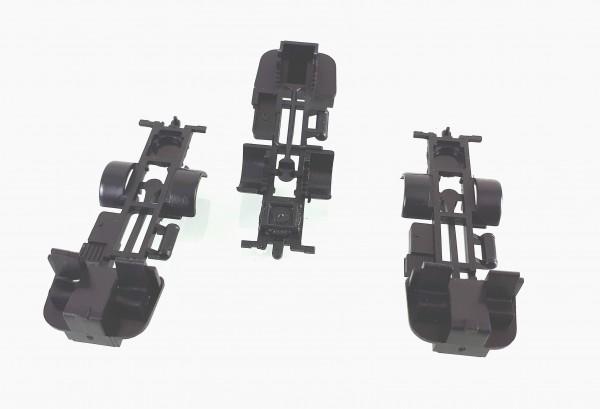 TT: 3 Stück Fahrgestell für Lkw IFA W50 in schwarz