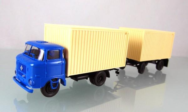 LKW W50L Kofferzug neutral blau/beige
