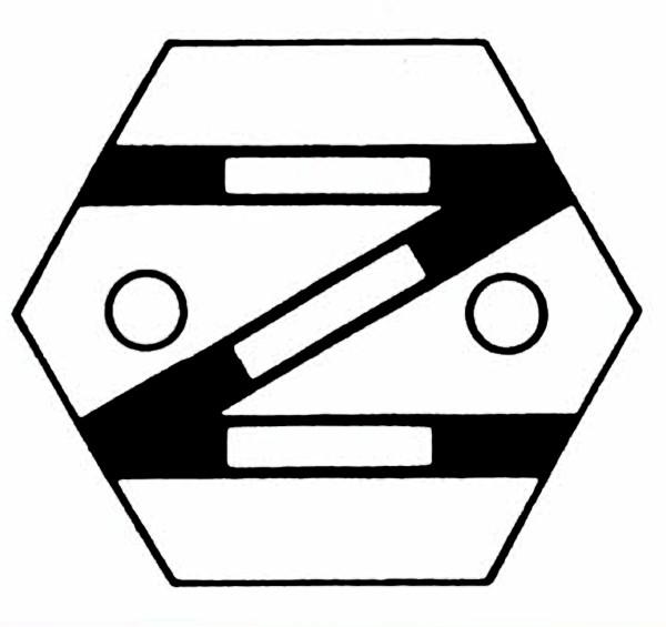 S903A Gleissymbol: Einfache Gleisverbindung links für 2 Taster