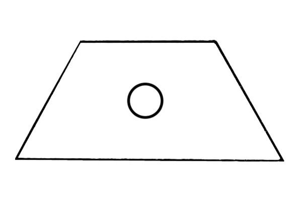S550A Baustein mit Öffnung für Taster oder Schalter