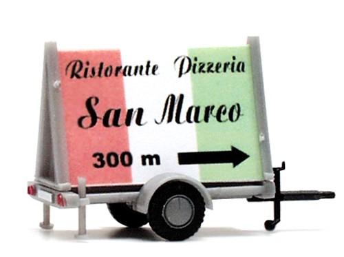 "Plakatwagen ""Ristorante Pizzeria San Marco"""