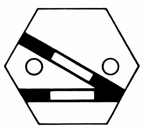 S905A Gleissymbol Weiche rechts für 2 Taster