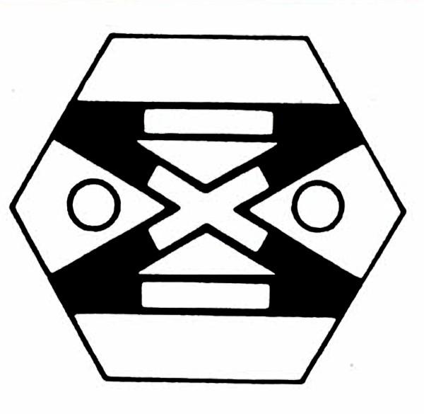 S901A Gleissymbol Doppelte Gleisverbindung für 2 Taster