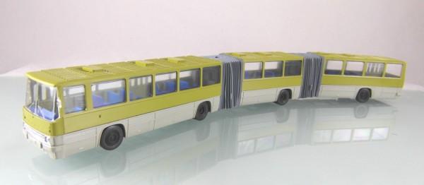 Ikarus 293 Doppel-Gelenkbus zweifarbig grün grau
