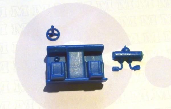 3 Stück Inneneinrichtung/ Sitzgruppe für LKW W50L in blau