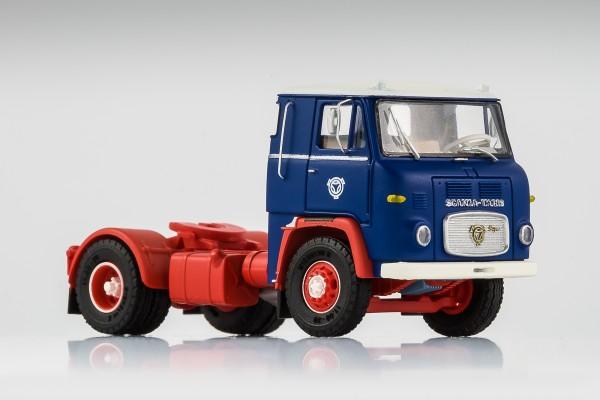 Scania LB 7635 blau-rot, verlängerte Kabine mit Eckfenster