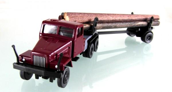 IFA G5 Langholztransporter weinrot