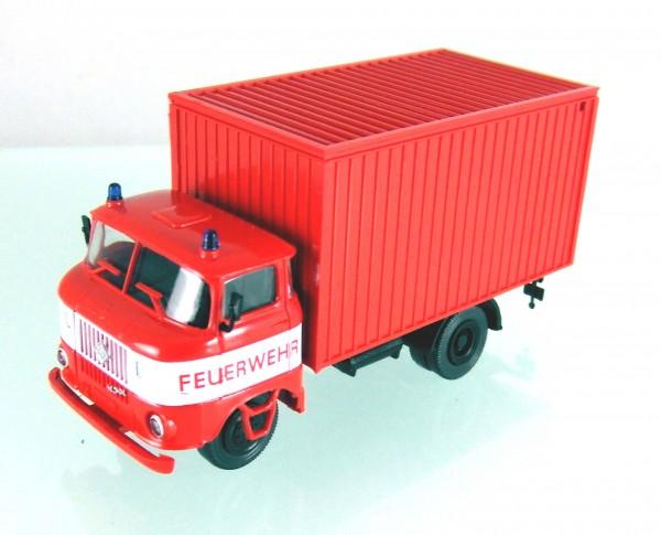 """LKW W50 """"Feuerwehr"""" mit Gerätekoffer/ Gerätewagen"""