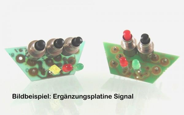 D821A Ergänzungsplatine Hauptsignal 2-begriffig (Hp0 - Hp1) mit 3 Tastern
