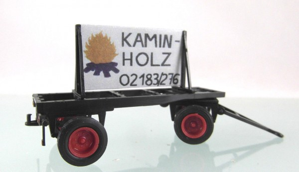 "Plakatwagen ""Kaminholz"""