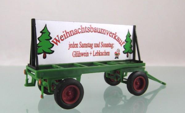 """Plakatwagen """"Weihnachtsbaumverkauf"""""""