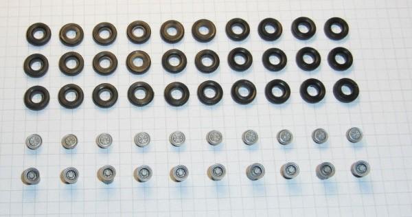 Sortiment Hochdruckreifen und Felgen für Lkw W50 / G5. Felgen silber