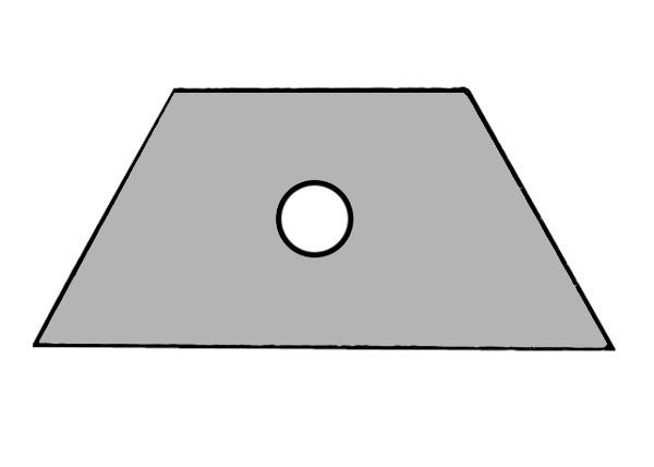 S650A Baustein grau mit Öffnung für Taster oder Schalter
