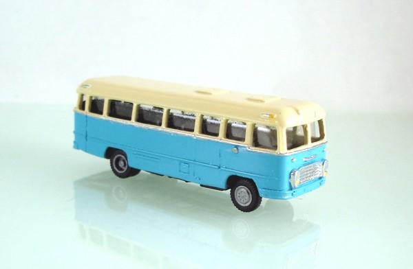 TT: FG000308 Omnibus Ikarus 31. Vorserie, Kleinserienmodell aus Resin in beige / blau
