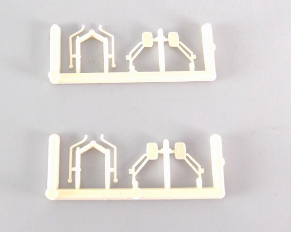 H0: 2 Satz doppelarmige Rückspiegel für Traktoren z.B. ZT. Farbe beige