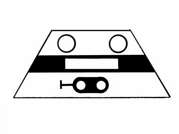 S622A Signalsymbol Hauptsignal 2-begriffig ( Hp0 - Hp1 ) für 2 Taster