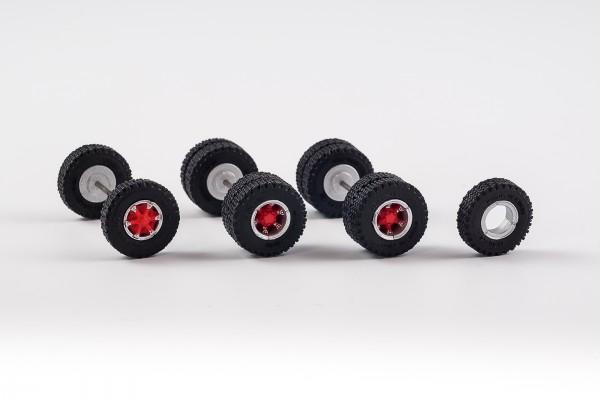Radsatz mit Trilex Felgen. 12,45 mm mit M+S Bereifung