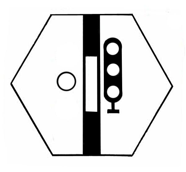 S821D Signalsymbol Hauptsignal 3-begriffig ( Hp0 - Hp1-Hp2 ) ohne Taster
