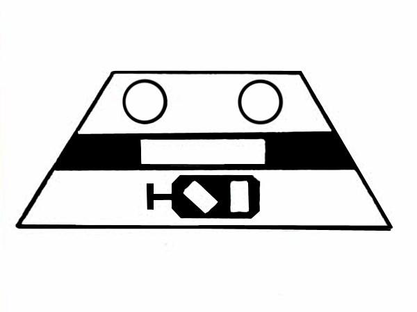 S641A Signalsymbol Gleissperrsignal für 2 Taster