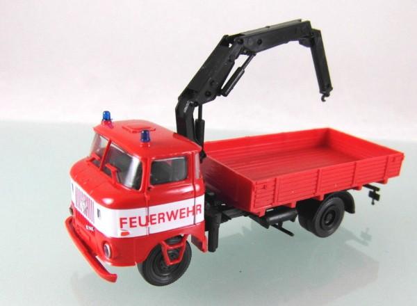 LKW W50L / L-LDK 1250 Ladekran Feuerwehr mit weißer Bauchbinde