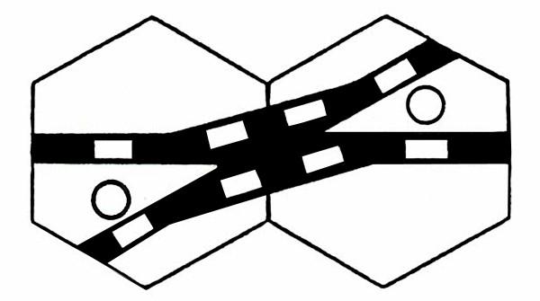 S959E Gleissymbol für Kreuzungsweichen mit einem Weichenantrieb-Copy