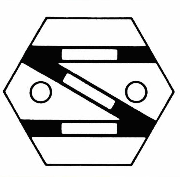 S902A Gleissymbol: Einfache Gleisverbindung rechts für 2 Taster