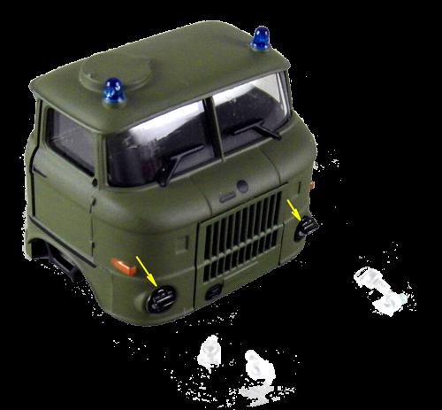 Tarnscheinwerfer / Militärscheinwerfer für LKW W50