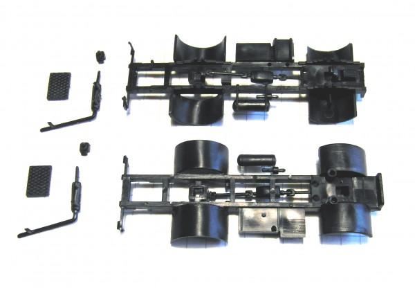 2 Stück Fahrgestell für W50L in schwarz.