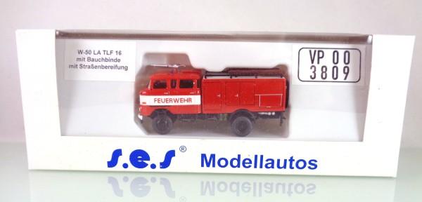 FG000069 s.e.s W50LA TLF16 mit Bauchbinde / Straßenbereifung. Lackiertes s.e.s Modell