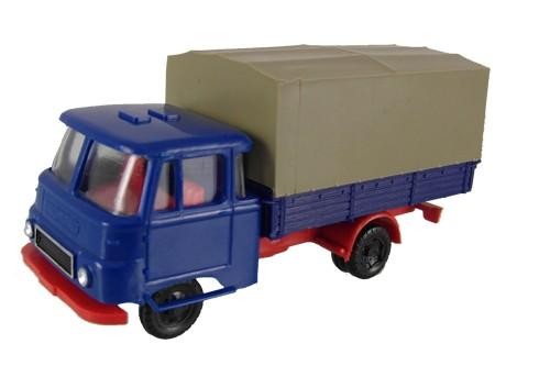 Robur LO 2501 mit Pritsche/ Plane, Blau