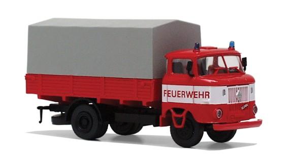 """LKW W50 Pritsche/ Plane """"Feuerwehr"""" mit weißer Bauchbinde"""