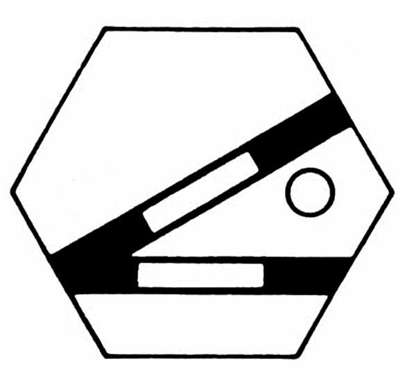 S954A Gleissymbol Weiche links für 1 Taster
