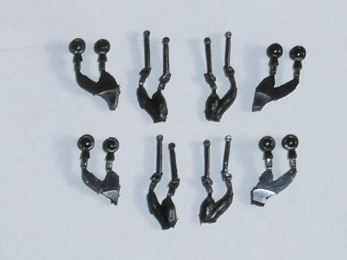 4 Satz Scheinwerfer und Peilstangen für Tatra T141 schwarz
