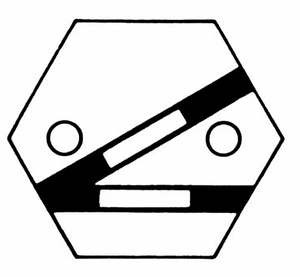 S904A Gleissymbol Weiche links für 2 Taster