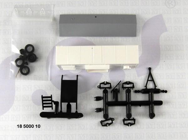 Bauwagen Typ A8 ohne Fenster. Bausatz für den kreativen TT-Bahner