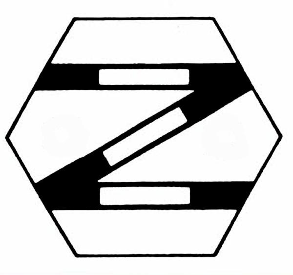S903D Gleissymbol einfache Gleisverbindung links