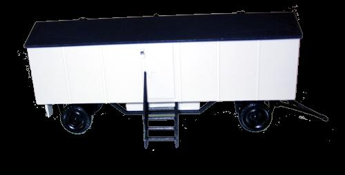 Bauwagen Typ A8 ohne Fenster - einfache Ausführung weiß / lichtgrau /grau