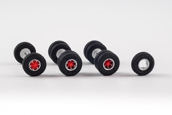 Radsatz mit Trilex Felgen. 12,90 mm mit Straßenbereifung