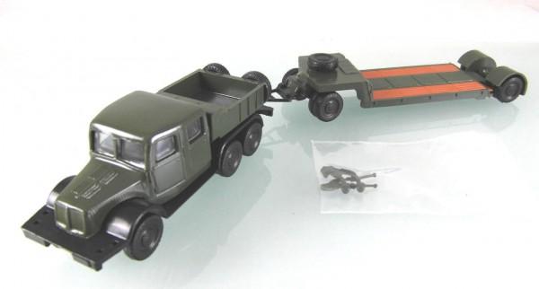 Tatra T141 und Tieflader TL 12 NVA-grün -LOW PRICE--